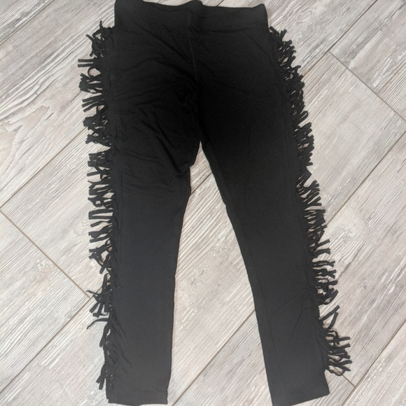 c5ac8132dfba1 Xhilaration Bottoms | Girls Side Fringe Black Leggings | Poshmark